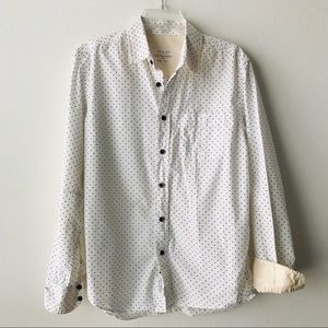 Rag & Bone mini star print button down shirt EUC